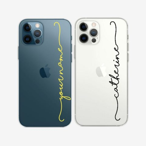 Custom Text iPhone Transparent Case