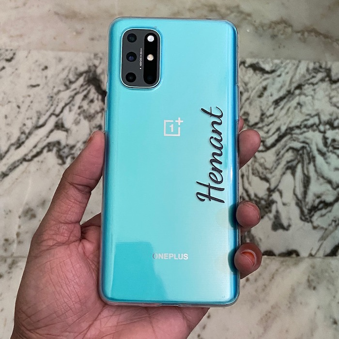 customised oneplus clear case